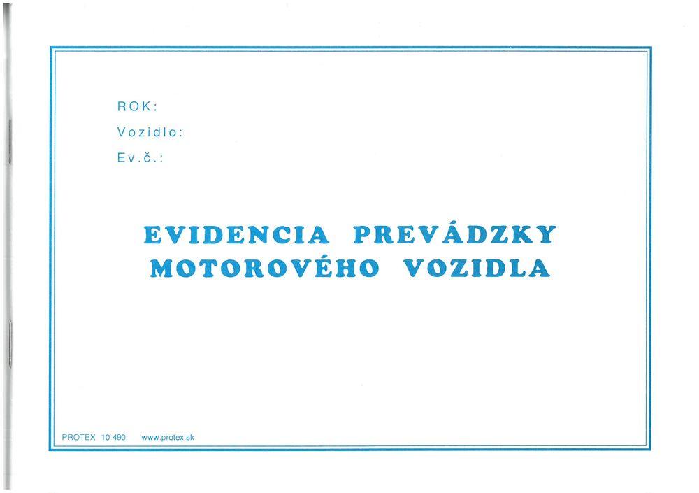 Evidencia prevádzky motorového vozidla (A5, 80 strán)