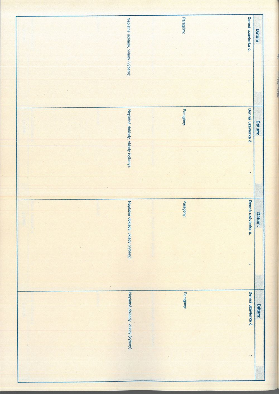 Kniha uzávierok elektronickej registračnej pokladnice (ERP), A4, 96 strán, tvrdá väzba