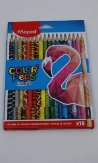 Farebné ceruzky Maped Animals 18ks