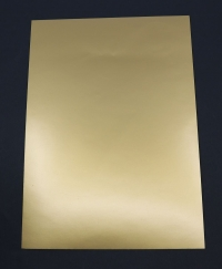 Kartón A4 zlatý