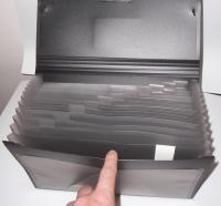 Aktovka na dokumenty, zakladač s gumou Foldermate