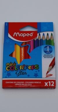 Farebné ceruzky Mini 12 ks