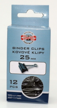 Binder klip - 25mm/12ks