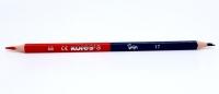 Dvojfarebná ceruzka modro-červená