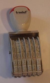 Číslovačka klasická pečiatka (6 miestná číslovačka, výška čísiel 7 mm)