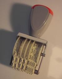 Dátumovka Zetax pečiatka (klasická dátumovka)