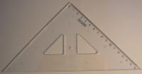 Trojuholníkové Pravítko (s ryhou)