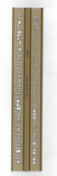 Abc šablóna 7 mm pravítko