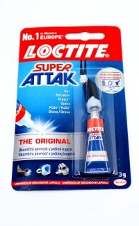 Lepidlo Super Attak - 3gr (univerzálne sekundové lepidlo)