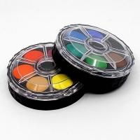 Vodové farby 12 ks - okrúhle