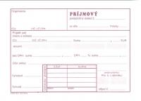 Príjmový pokladničný doklad NOVÝ (samoprepisovací, blok A6, 100 listov)