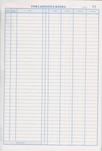 Pokladničná kniha číslovaná 50x2 listová
