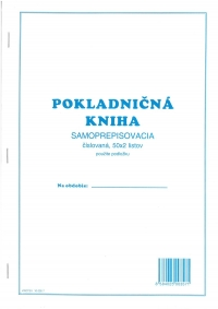 Pokladničná kniha samoprepisovacia, číslovaná 50x2 listov