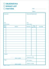Objednávka - Dodací list - Faktúra , blok A5, 100 listov, samoprepisovací