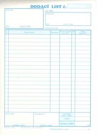 Dodací list A5 - 20 položiek (blok 100 listov)