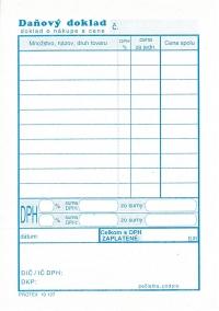 Daňový doklad - paragón A6 (blok 100 listov)