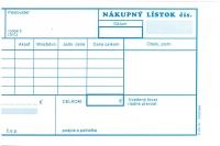 Nákupný lístok 1/3 A4 (samoprepisovací, blok 100 listov)