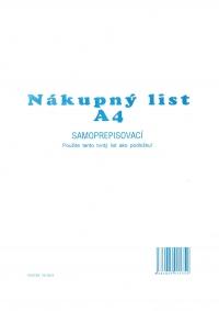 Nákupný lístok A4 (3 ks/list) (samoprepisovací, blok 100 listov)