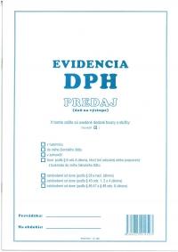 Evidencia DPH - predaj A4 (40 str., 1200 pol.)