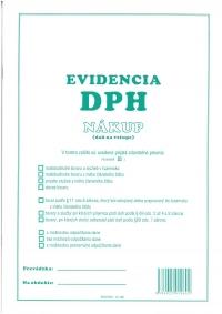 Evidencia DPH - nákup A4 (40 str., 1200 pol.)