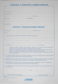 Dohoda o hmotnej zodpovednosti (list A4)