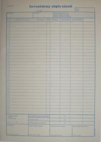 Inventúrny súpis zásob (blok A4, 50 listov)
