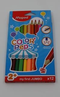 Farebné ceruzky Maped Jumbo 12 ks