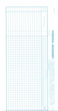 Evidencia dochádzky - úzka (list 1/2 A3)
