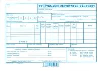 Vyúčtovanie cestovných výdavkov A5 (list)