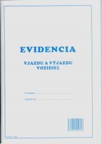 Evidencia vjazdu a výjazdu vozidiel (A4 zošit, 100 strán)