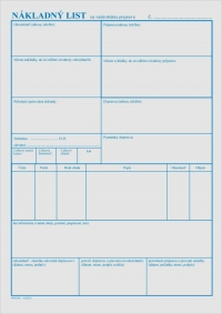 Nákladný list na vnútroštátnu prepravu (A4 blok 100 listov, samoprepisovací)