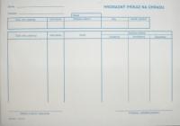 Hromadný príkaz na úhradu (samoprepisovací blok A5, 100 listov)