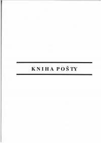 Kniha  pošty zjednodušená, tvrdý obal, A4, 100 strán