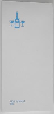Čašnícke účtenky biele s potlačou (blok 15x7 cm, 80 listov)
