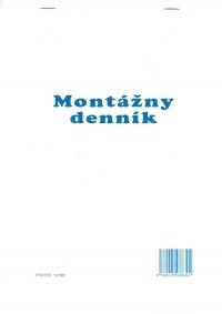 Montážny denník (blok A4, 100 listov)