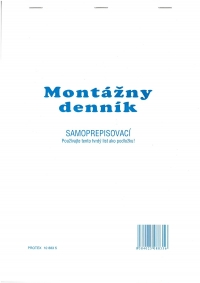 Montážny denník (samoprepisovací blok A4, 100 listov)