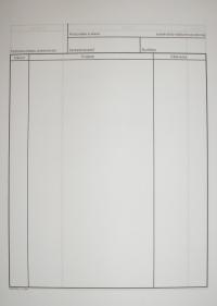 Vložka do zdravotnej karty (zápis o priebehu ošetrenia, list A4, dekurz)