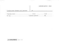 Lekárska správa - nález (list A5)
