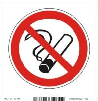Piktogram zákaz fajčenia - samolepka (10x10 cm)