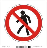 Piktogram zákaz vstupu pre chodcov - samolepka (10x10 cm)
