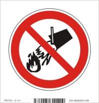 Piktogram zákaz hasenia vodou - samolepka (10x10 cm)