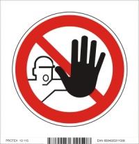 Piktogram nepovolaným vstup zakázaný - samolepka (10x10 cm)