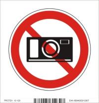 Piktogram zákaz fotografovania - samolepka (10x10 cm)