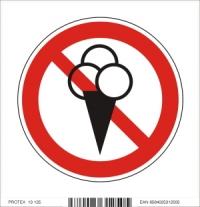 Piktogram zákaz vstupu so zmrzlinou - samolepka (10x10 cm)