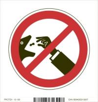 Piktogram zákaz kŕmenia - nekŕmiť (10 x 10 cm)