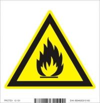 Piktogram  nepezpečenstvo požiaru alebo vysokej teploty - samolepka (10x10 cm)