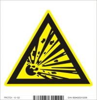 Piktogram  nebezpečenstvo výbuchu - samolepka (10x10 cm)