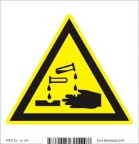 Piktogram  nebezpečenstvo poleptania - samolepka (10x10 cm)