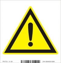 Piktogram  iné nebezpečenstvo - samolepka (10x10 cm)