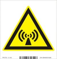 Piktogram  nebezpečenstvo neionizujúceho žiarenia - samolepka (10x10 cm)
